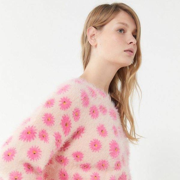 Urban Outfitters Keeley Eyelash Knit Pullover Sweater