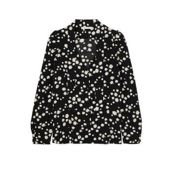 Maje Pussy-Bow Floral Blouse