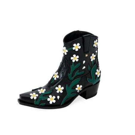 Valentino Garavani Ranch Daisy Applique Boots