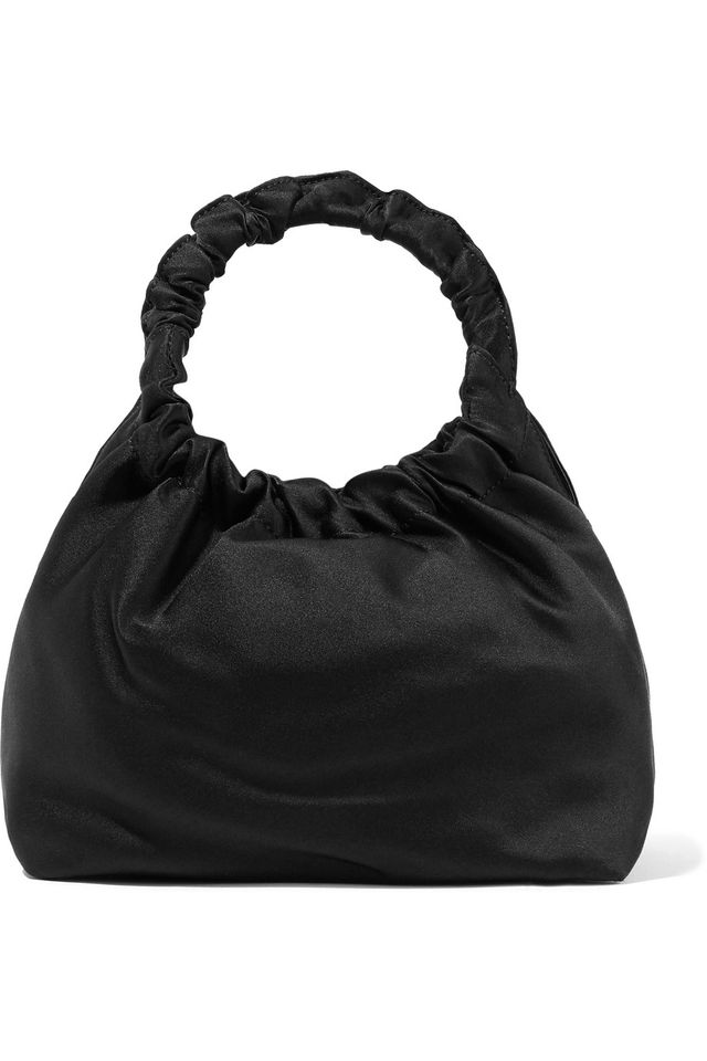 The Row Double Circle Small Satin Tote