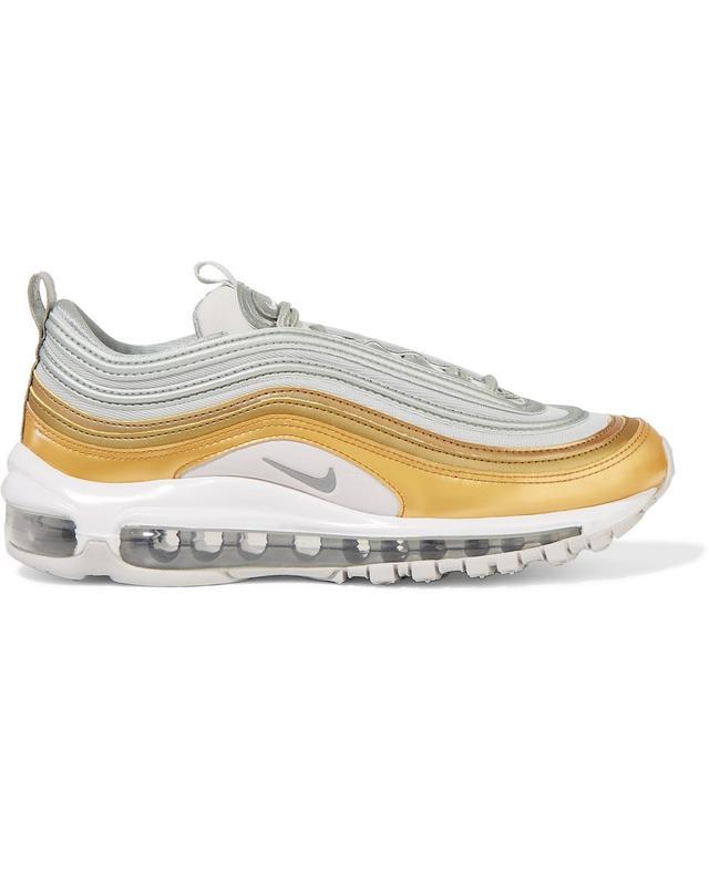 Nike Air Max 97 SE Metallic Leather and Mesh Sneakers