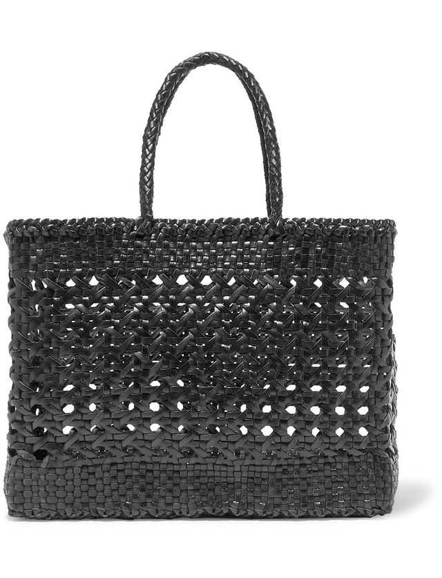 Dragon Diffusion Cannage Big Woven Leather Tote
