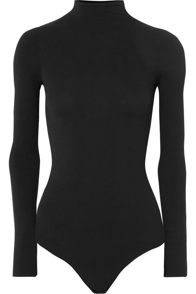 Commando Ballet Stretch-Jersey Turtleneck Thong Bodysuit