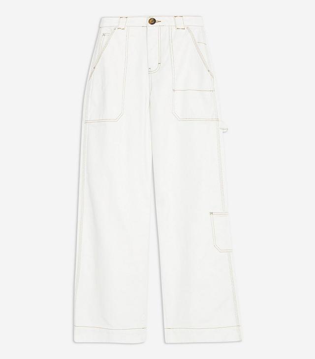 Topshop Wide Leg Cargo Jeans