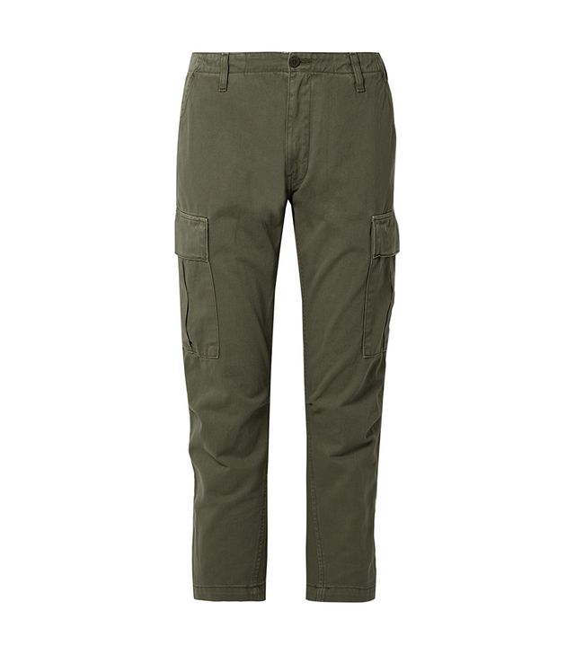 Re/Done Originals Cropped Cotton-Twill Pants