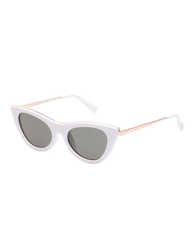 Le Specs Enchantress in White Khaki
