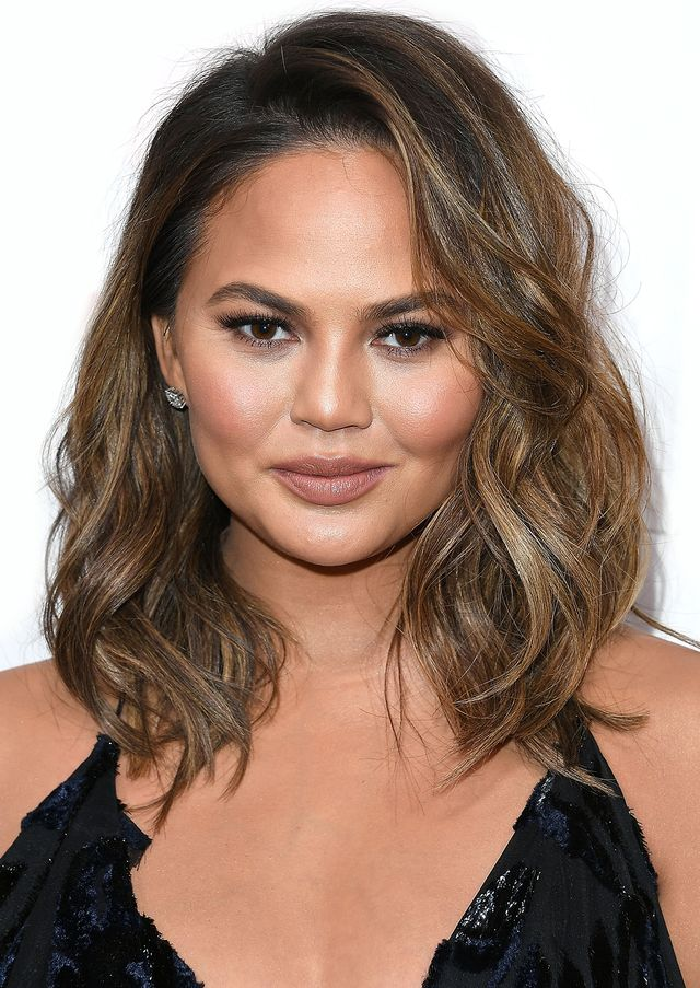 Chrissy Teigen best haircuts for every face shape