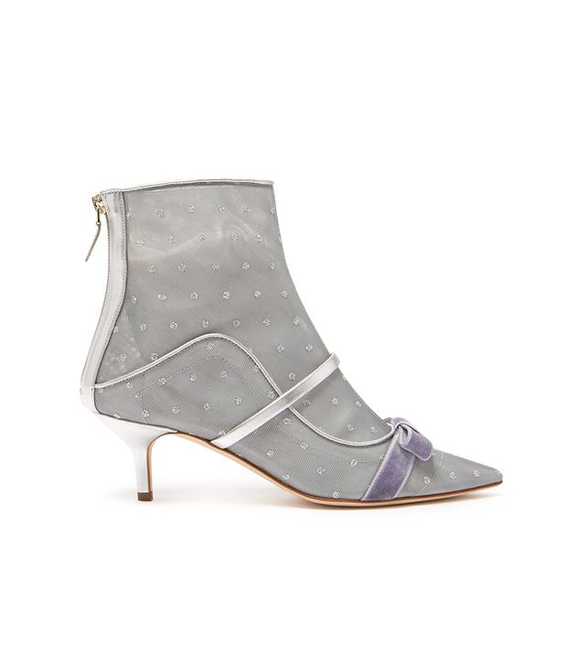 Malone Souliers Claudia Mesh and Leather Ankle Boots