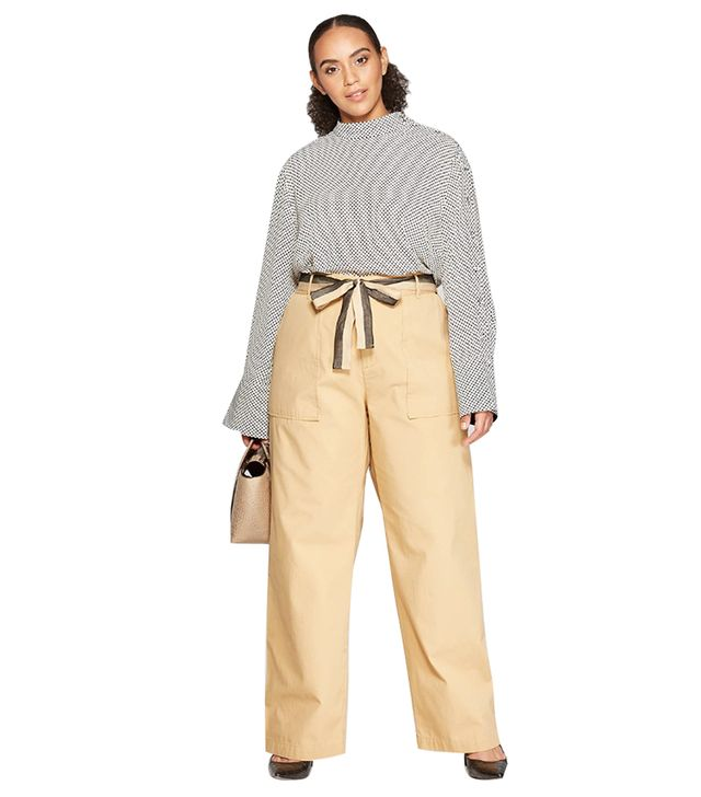 Who What Wear Duo Front Pocket Straight Wide Leg Cargo Pants