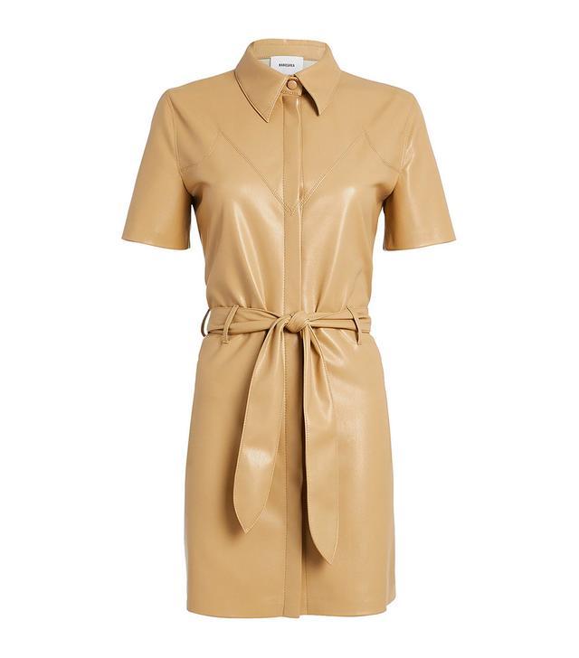 Nanushka Roberta Vegan Leather Mini Dress