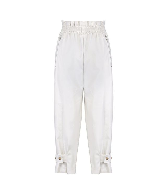 Frankie Shop Cream Vegan Leather Pants