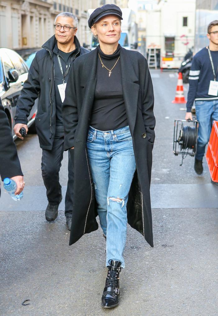 Diane Kruger Knows the Chicest Way to Wear Mango in Paris