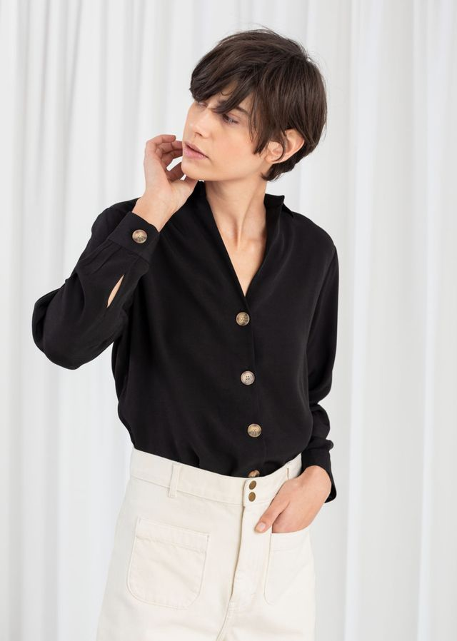 & Other Stories Relaxed Fit Button Up