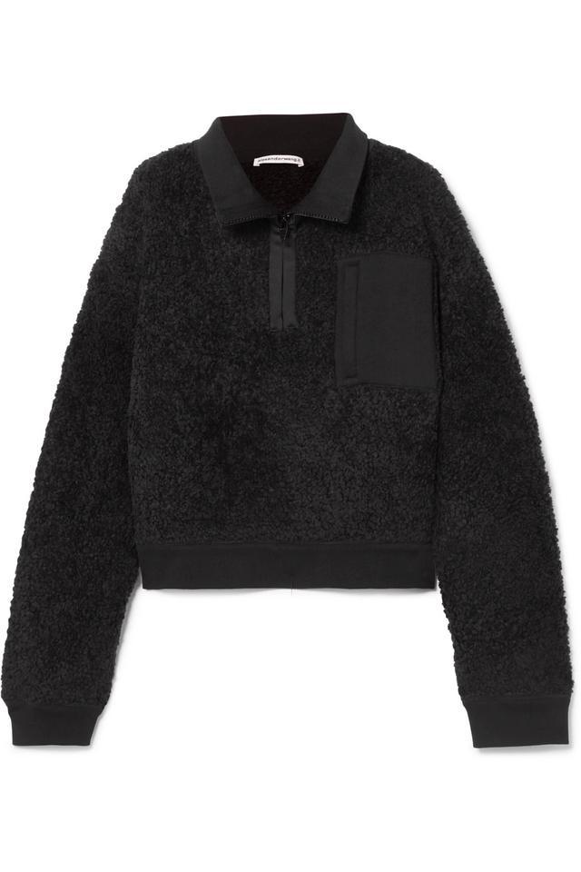 T by Alexander Wang Oversized Wool-Blend Fleece Sweatshirt