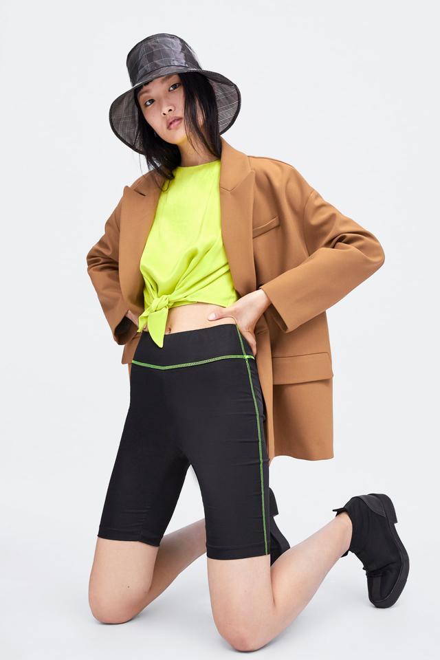Zara Bike Shorts with Topstitching