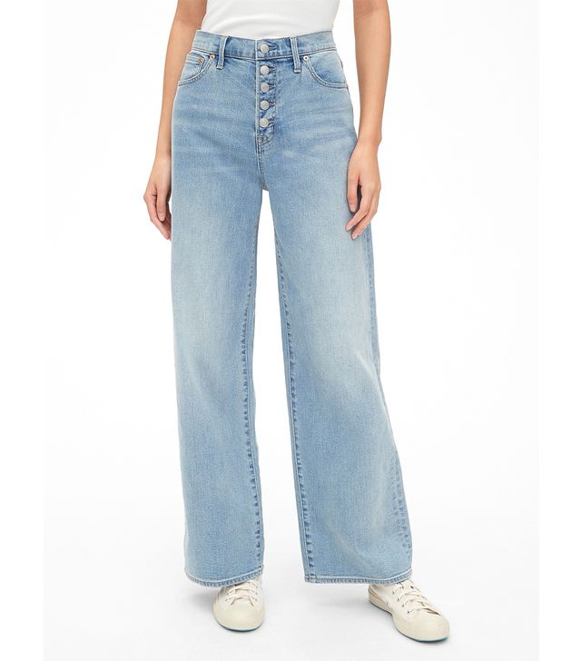 Gap High Rise Wide-Leg Jeans with Button-Fly