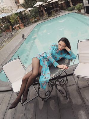 Swimming Pool Blue Is Taking Over Fashion Instagram