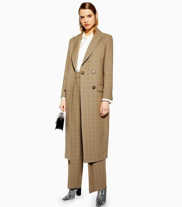 Topshop Tailored Check Coat