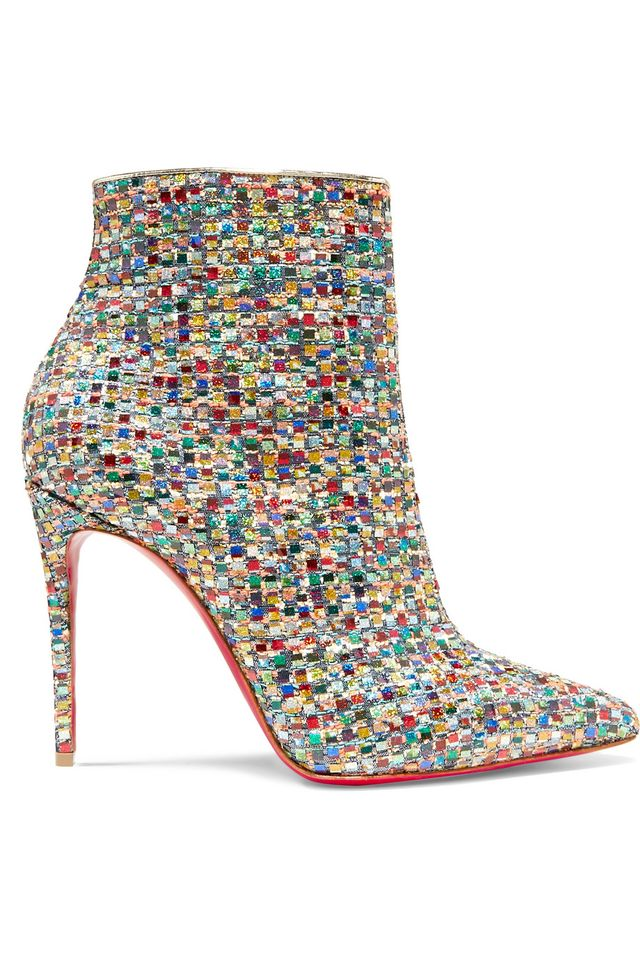 Christian Louboutin So Kate Embellished Tweed Ankle Boots
