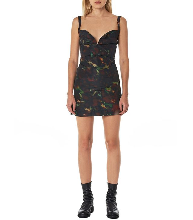 Charlotte Knowles Skink Marbled Dress