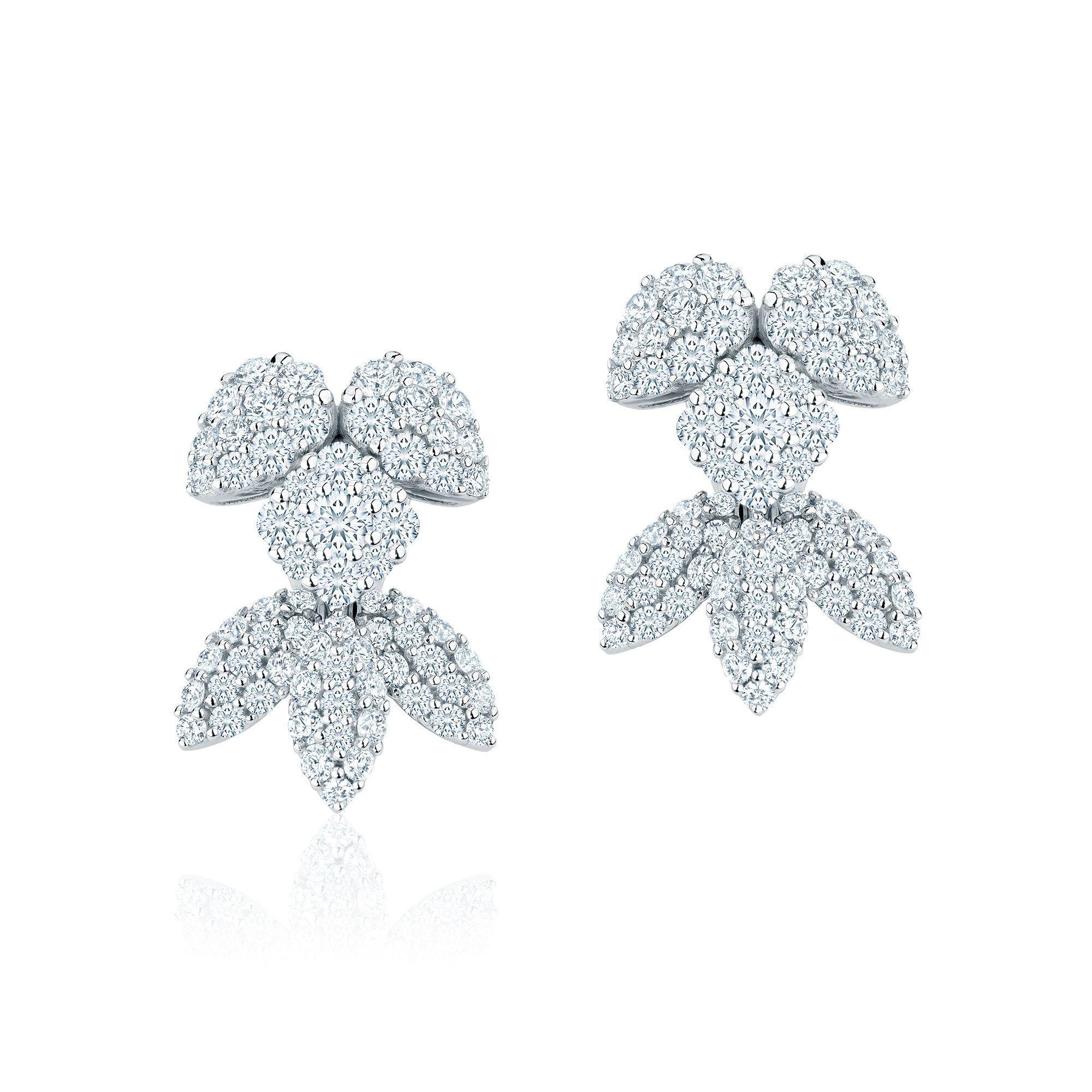 a596880dd5 ... Birks Snowflake Snowstorm Diamond Earrings in White Gold ( 12