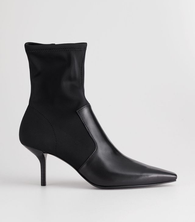 & Other Stories Square Toe Stiletto Sock Boots