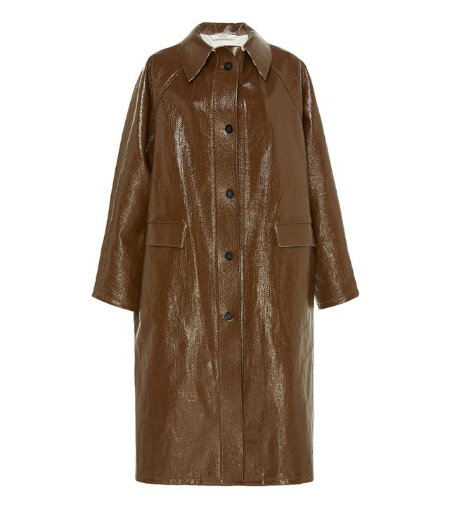 Kassl Double Faced Lacquer Check Coat