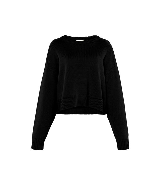 Loulou Studio Bruzzi Open Crew-Neck Sweater