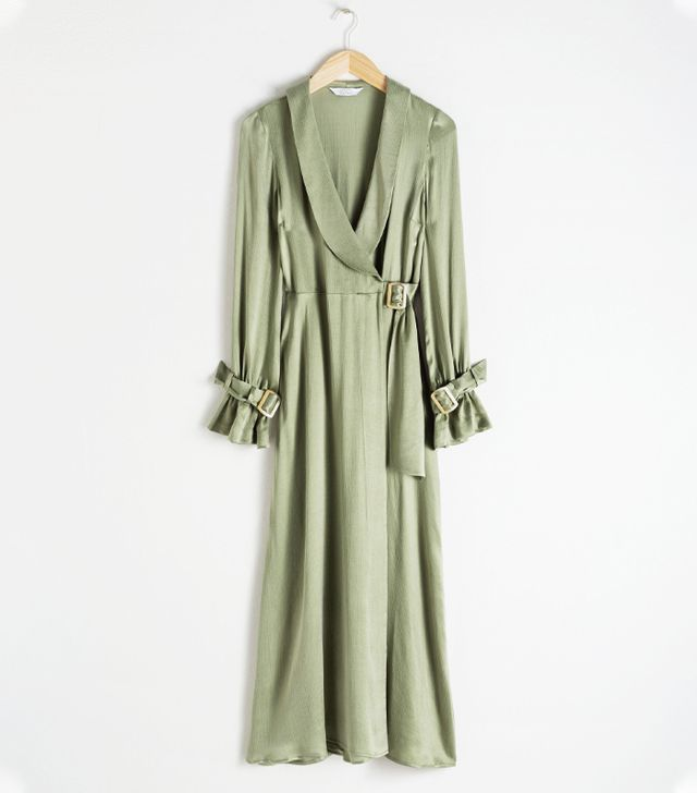 & Other Stories Belted Wrap Maxi Dress