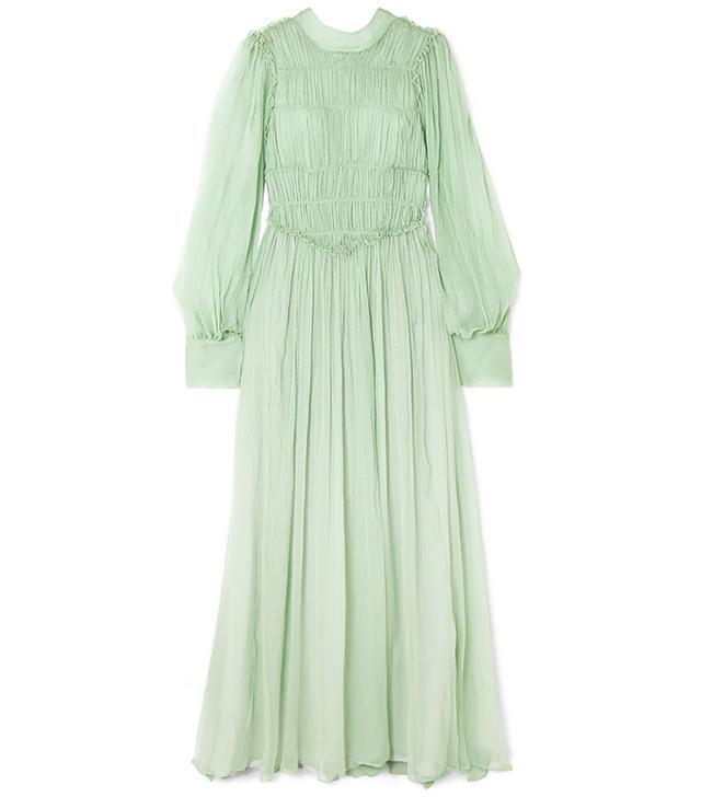 Stella McCartney Ruffled Silk-Chiffon Gown
