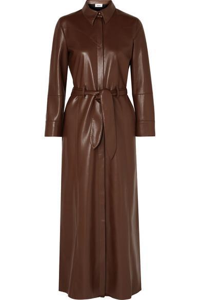 Nanushka Taurus Vegan Leather Maxi Dress