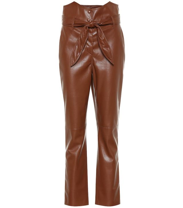 Nanushka Ethan High-Rise Straight Pants