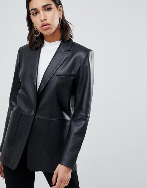 ASOS Leather Blazer
