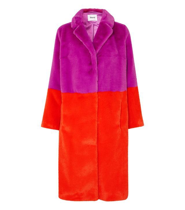 Stand Maribel Two-Tone Faux Fur Coat