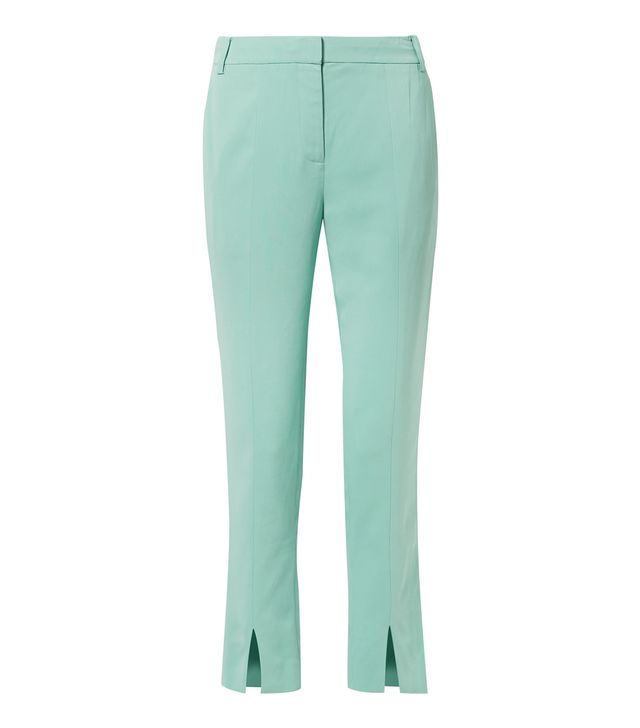 Tibi Beatle Stretch-Crepe Straight-Leg Pants