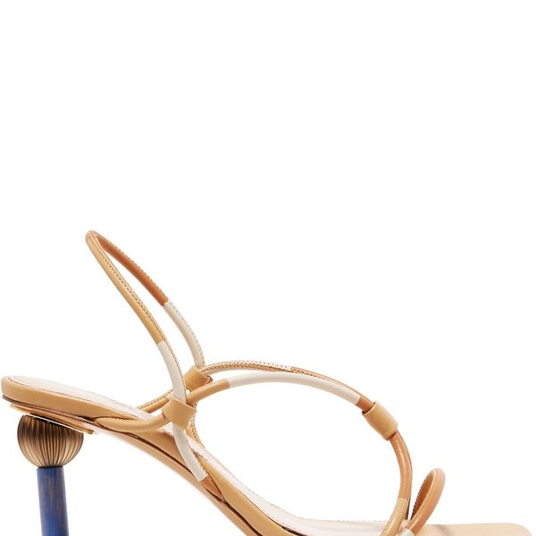 Jacquemus Olbia Leather Slingback Sandals