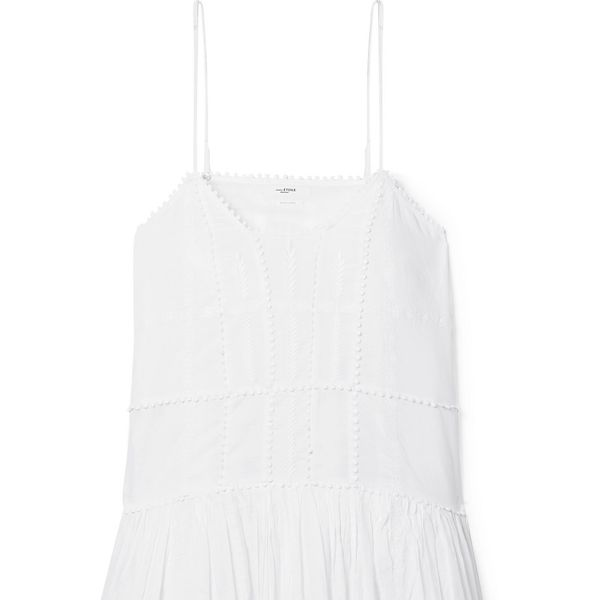 Isabel Marant Etoile Amelie Embroidered Cotton-Voile Mini Dress