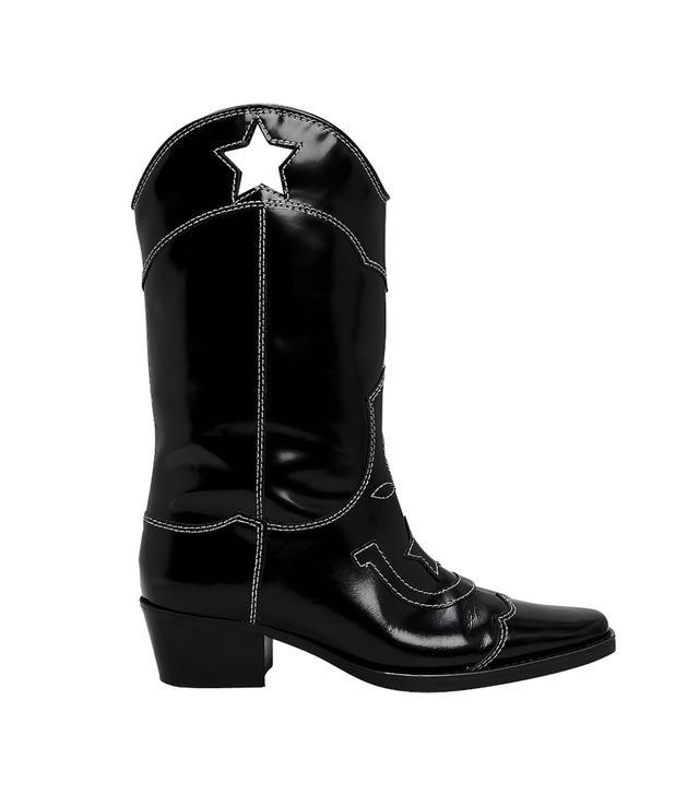 Ganni High Texas Star Cutout Western Boots