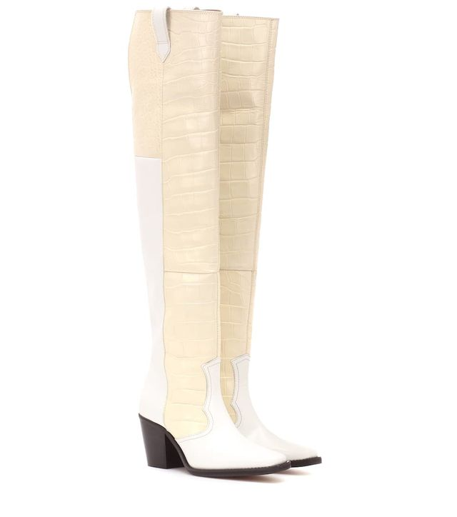 Ganni Nadine Leather Over-the-Knee Boots