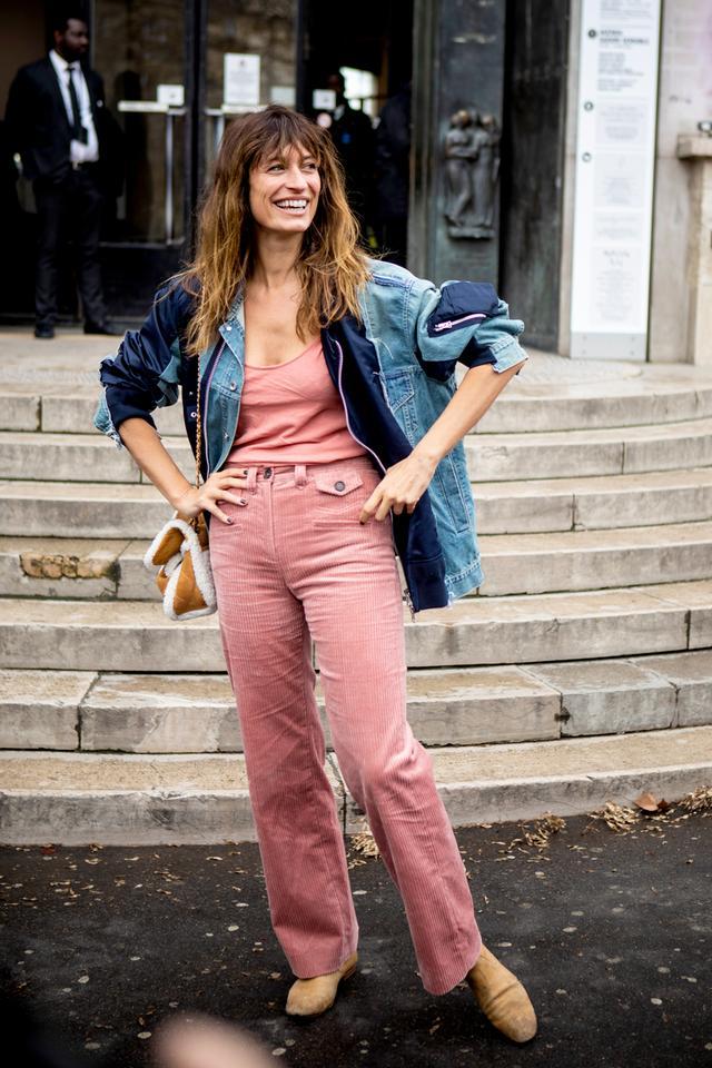 Paris Fashion Week denim outfit