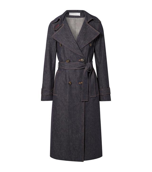 Victoria Beckham Belted Denim Trench Coat