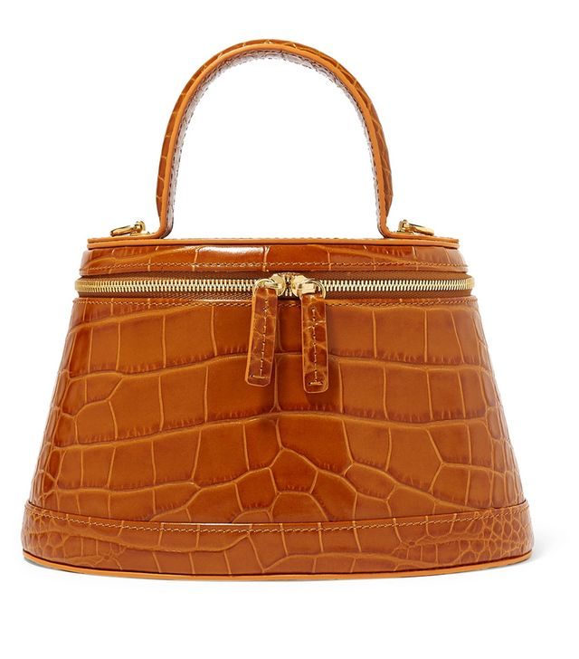 By Far Annie Croc-Effect Leather Shoulder Bag