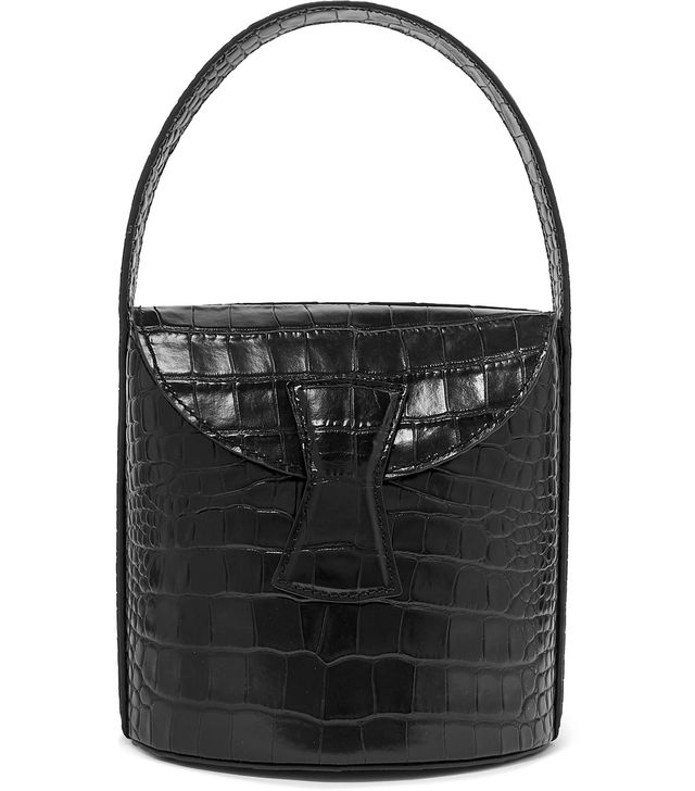 By Far Nick Croc-Effect Leather Shoulder Bag