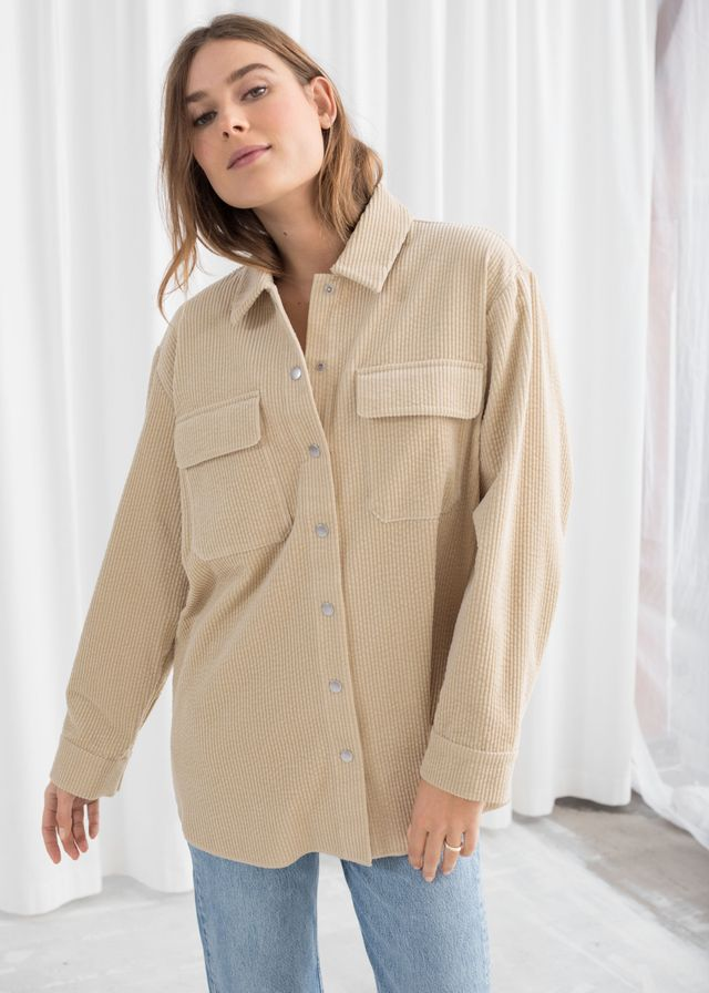 & Other Stories Oversized Corduroy Workwear Shirt