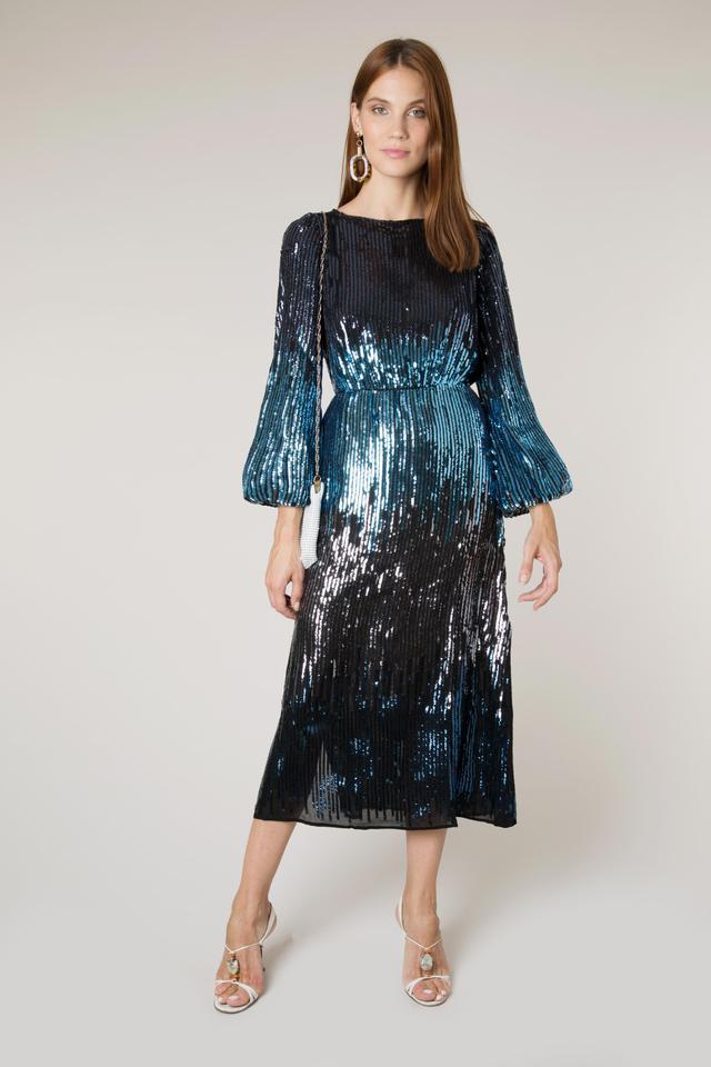 Rixo Coco Ombre Sequin Dress