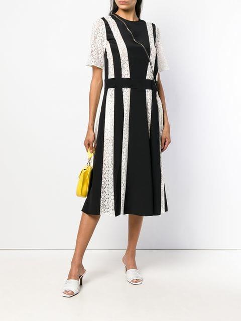 Stella McCartney Lace Stripe Midi Dress
