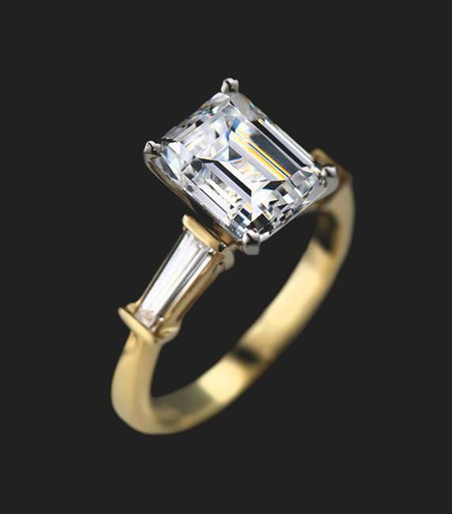 Miadonna Chorus Three Stone Engagement Ring