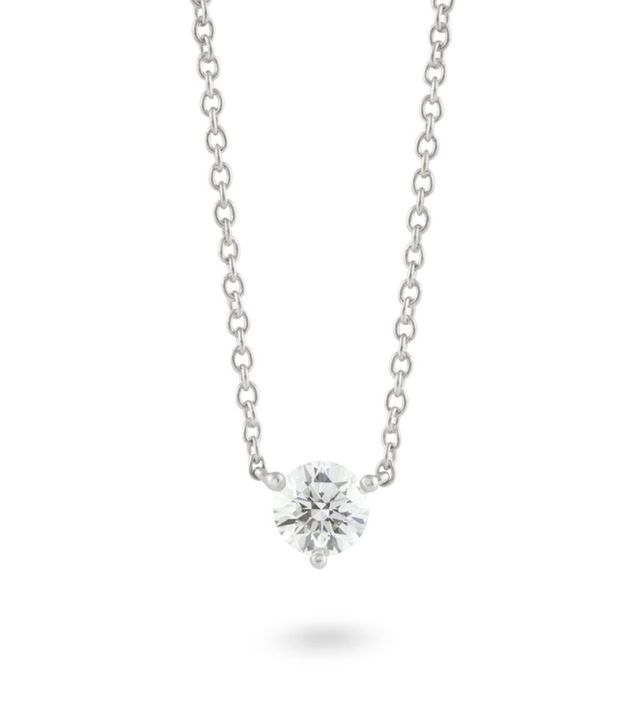 Lightbox Solitaire Pendant in White