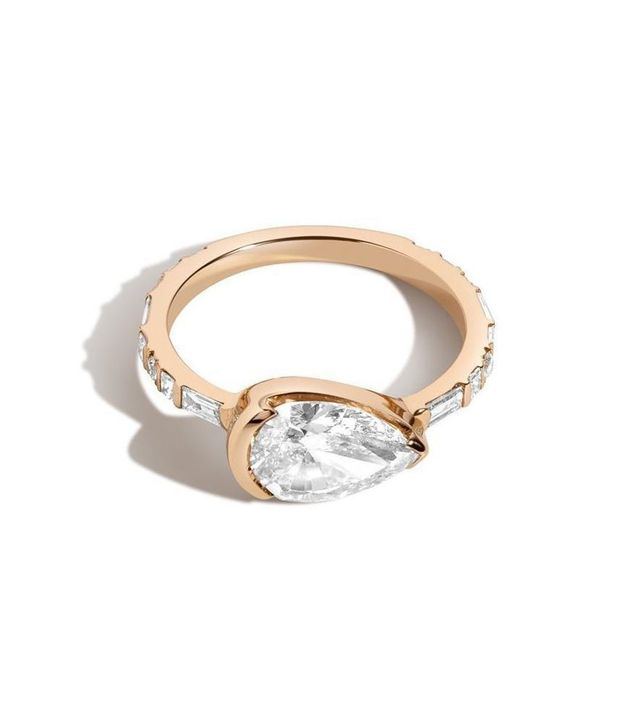 Shahla Karimi Pear East West Ring