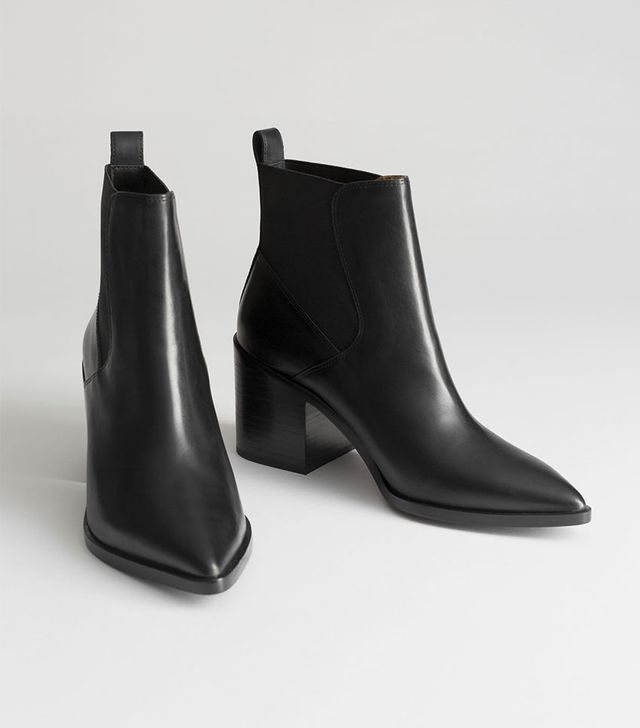 & Other Stories Chunky Chelsea Leather Ankle Boots